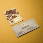 визитки с тиснением в Москве